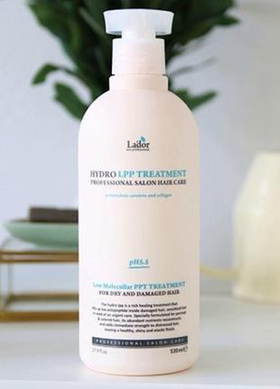 Маска для пошкодженого волосся lador eco hydro lpp treatment 530мл