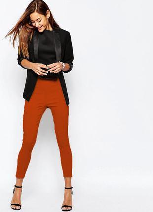 Яркие узкие брюки скинни леггинсы h&m divided с высокой талией р. 46-48 укр