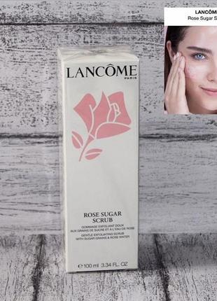 Lancome скраб для лица rose sugar scrub