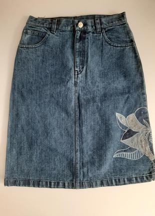 Юбка джинсовая а-образный силуэт  размер s