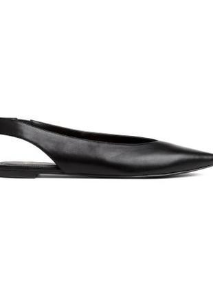 Новые туфли босоножки лодочки h&m с острым носком, 38,39
