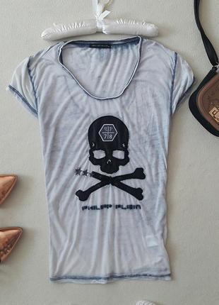 Легкая летняя футболка rhilipp plein