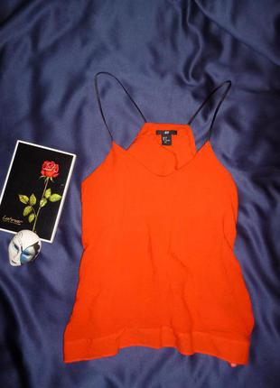 Очаровательная блуза на бретелях красная  h&m