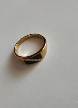 Кольцо бижутерия печатка