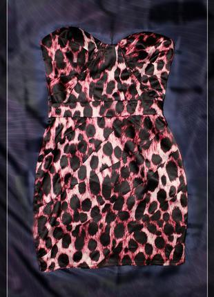 Платье-бюстье,лео,р.xs