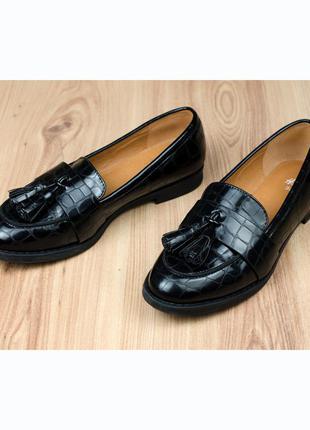Лаковые лоферы туфли h&m 36-37р. 23,5 см.