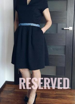Коктельное черное платье reserved
