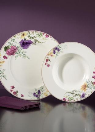 Набор обеденных и суповых тарелок прованс van well на 6 персон