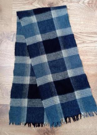 Мужской шарф натуральная шерсть+нюанс