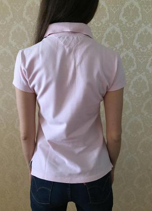 Нежно-розовая поло