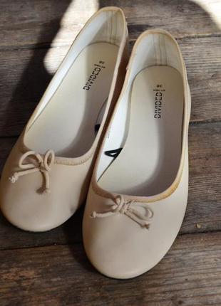 Восхитительные нежные балетки тапочки эко кожа бежевые мягкие h&m