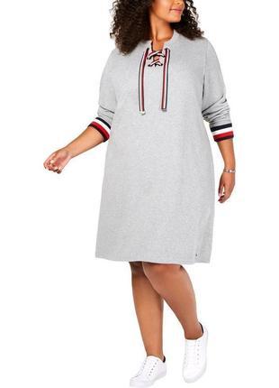 Модное фирменное платье свитшот, новое из сша, большого размера