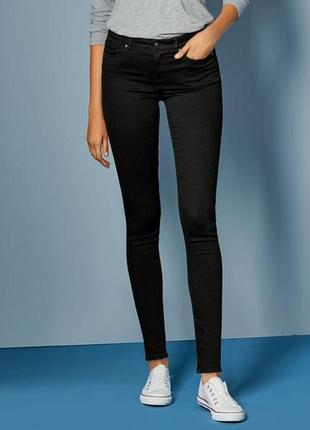 Черные джинсы зауженные super skinny, xl-xxl 44 euro, esmara, германия