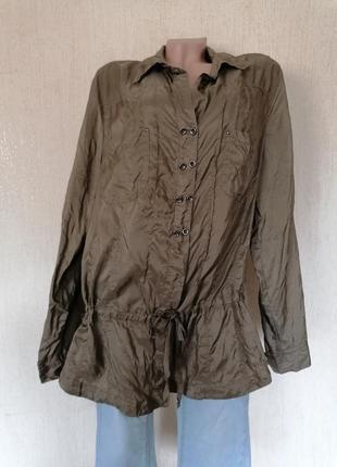 Шёлковая блузка рубашка туника