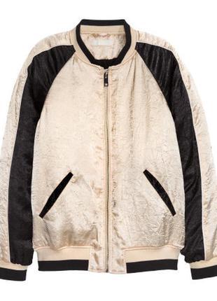 Куртка-бомбер из жатого атласа. xs. s. m. l. новая.