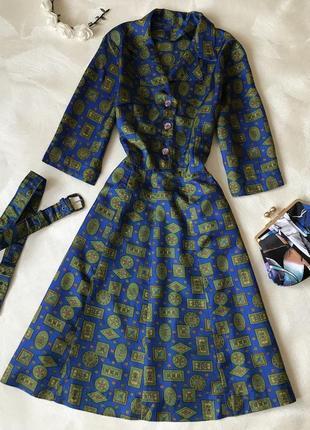 Шикарное платье ретро винтаж миди винтажное