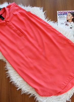 Яркая легкая туника-рубашка, майка, блуза, платье s-m