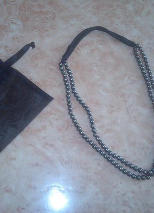 Стильное ожерелье в подарочном мешочке