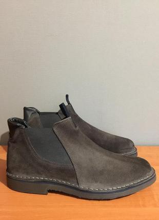Ботинки челси натуральная замша giardini 45 размер.
