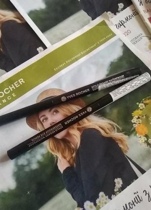 Водостійкий карандаш для контуру очей yves rocher