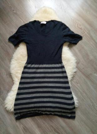 Платье теплое до колен
