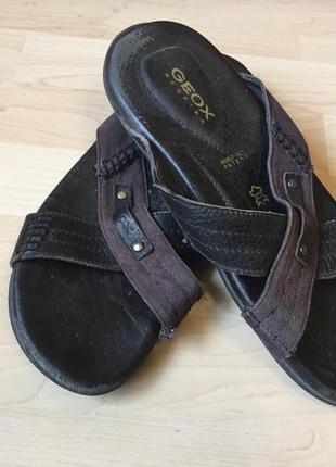 Кожаные шлепки сандалии 43 geox