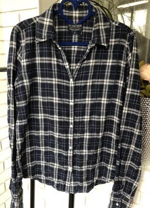 Рубашка в клетку polo/ jeans company/ralph lauren polo .хлопок