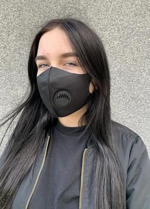 Многоразовая защитная маска /  питта / черная / женская / мужская