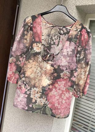Новая блуза топ из органзы италия h&m mango