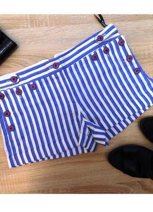 44-46р актуальные короткие полосатые шорты с переливом