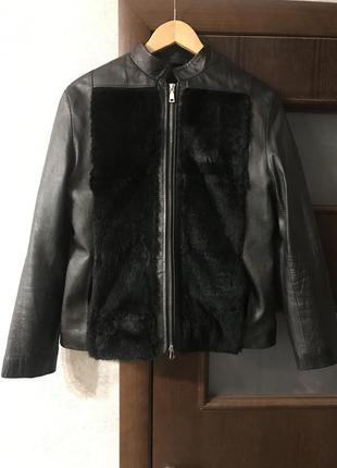 Шкіряна куртка з хутром, куртка кожанка