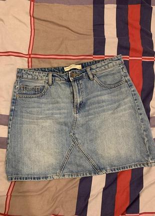 Юбка stradivarius, джинсовая юбка