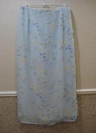 Шифоновая юбка в пол юбка с принтом большого размера 14/16.