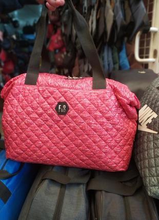 Спортивная дорожная женская сумка из болоньи