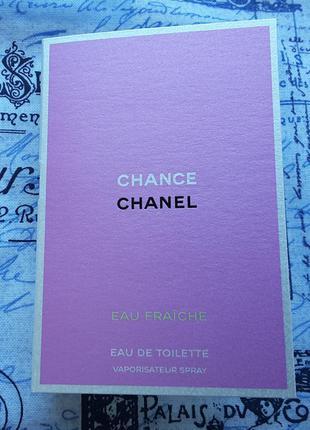 Пробник туалетной воды chanel chance eau fraiche, 2 ml, франция