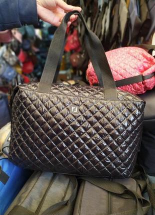 Большая женская сумка из болоньи,денская сумка на каждый день