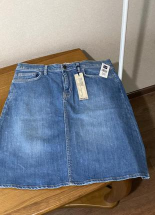 Gap джинсовая юбка с высокой талией