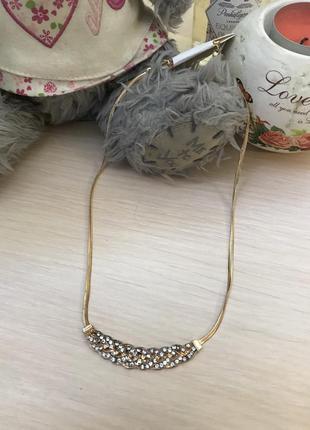 Стильное ожерелье колье цепочка
