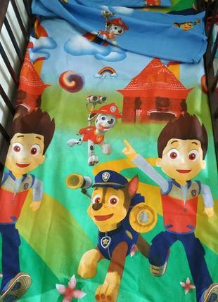 Постельное белье щенячий патруль, постель детская, подростковая, полуторная