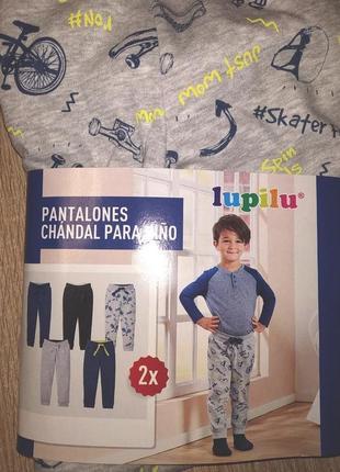Утепленные спортивные штаны фирмы lupilu.