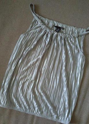 Модная блуза серебро