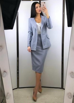 Костюм пиджак и юбка на подкладе букле, шикарный пошив2 фото