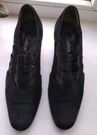 Туфли gabor из натуральной замши