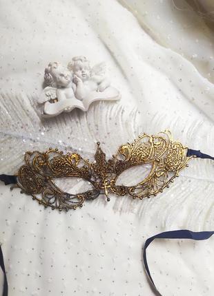 Маска карнавальна мереживо, маска маскарадная кружево