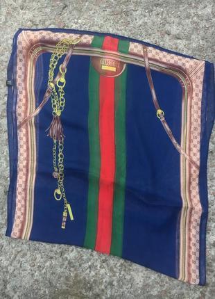 Шелковый  шарф (платок) от gucci italy