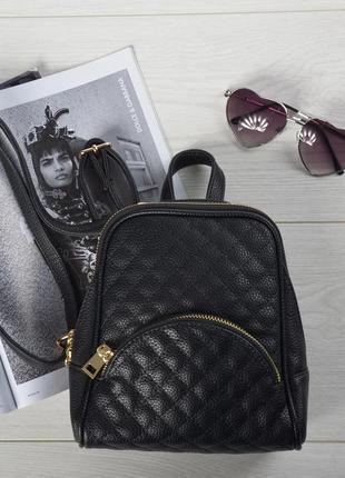 Поделиться:  стильный городской мини рюкзак черный