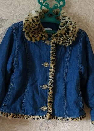Куртка джинсова утеплена