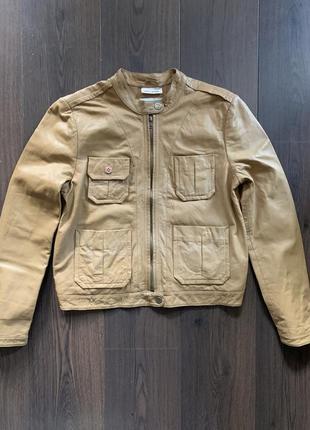 Кожаная куртка dkny размер l