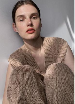 Zara зара оригинал костюм брюками штаны штанами теплый бежевый стильный