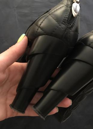 Туфли кожаные bershka mango h&m
